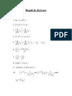 Reguli+Formule de Derivare