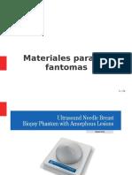 Materiales para fantomas