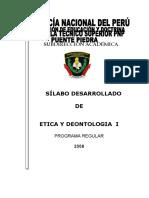 SILABO DE ETICA Y DEONTOLOGIA I 2008