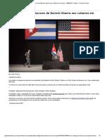 Leia a íntegra do discurso de Barack Obama aos cubanos em Havana - 23_03_2016 - Mundo - Folha de S