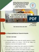 Presentacion digital  La Responsabilidad Civil por Causa de Incendio.