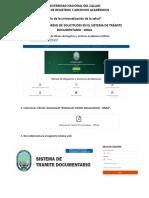 MANUAL DE INGRESO DE SOLICITUDES EN EL SISTEMA DE TRÁMITE DOCUMENTARIO
