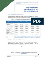 CAP 12 PRESUPUESTO DE IMPLEMENTACIÓN