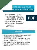 Kriteria Penubuhan Pusat Pendidikan Awal Kanak-kanak