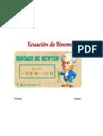 Trabajo Sobre Ecuacion de Binomios y Mas