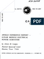 Apollo Experience Report Lunar Module Electrical Power Subsystem