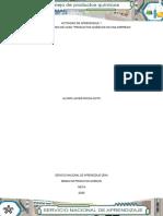 analisis de caso productos quimicos en una empresa