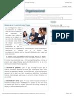 Comportamiento Organizacional Modelo de las Características del Trabajo