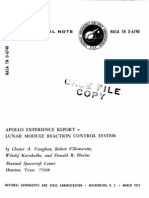 Apollo Experience Report Lunar Module Reaction Control System
