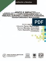 Cumplimiento e impacto de las sentencias de la Corte Interamericana y el Tribunal Europeo de Derechos Humanos (1)