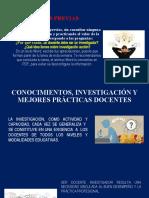 CONOCIMIENTOS, INVESTIGACIÓN Y MEJORES PRÁCTICAS DOCENTES