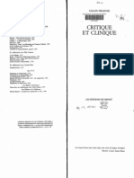GILLES DELEUZE - Critique Et Clinique
