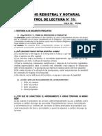 CONTROL DE LECTURA N 11 DERECHO REGISTRAL
