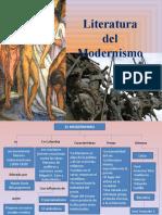 Diapositivas de literatura del Modernismo y Vanguardismo 8°