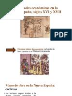 Actividades económicas en la Nueva España