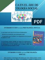 LA ÉTICA EN EL ÁRE DE LA PSICOLOGÍA SOCIAL