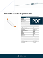 Placa LED Circular SuperSlim 6W