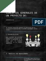 CONCEPTOS GENERALES DE UN PROYECTO DE URBANIZACION