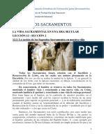 12.2. La acción de los Sagrados Sacramentos en nuestra vida