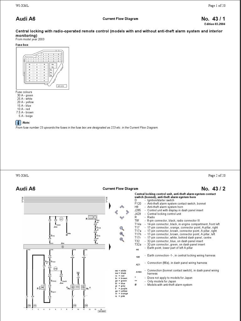 audi allroad wiring diagram audi a6 schemat centralka alarm trunk  car  electrical connector  audi a6 schemat centralka alarm trunk