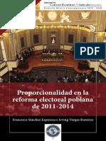 1 .-Proporcionalidad de la Reforma politica en Puebla