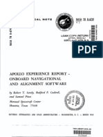 Apollo Experience Report Oboard Navigational and Alignment Software