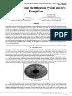 Biometrics Retinal Identification System And Iris Recognition