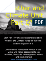 Weather and Climate Unit Part I/VI for Educators - Download Powerpoint at www. science powerpoint .com