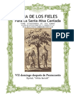 VII Domingo Después de Pentecostes. Guía de los fieles para la santa misa cantada. Kyrial Orbis Factor