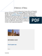 Cultural and history of lima