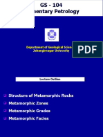 Metamorphic facies, grade and zones