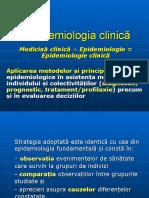 Curs 6 - Epidemiologie clinica