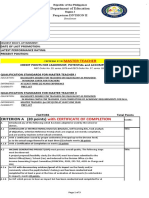 Scoring sheet MT