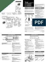 IC-F5062D Instructions