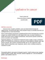 Îngrijiri paleative în cancer