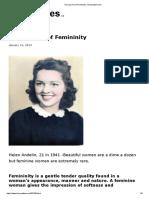 The Lost Art of Femininity - henrymakow.com