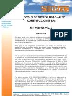 PROTOCOLO DE BIOSEGURIDAD-ARFEC CONSTRUCCIONES SAS - ALSACIA RESERVADO III