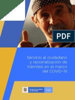 Servicio al ciudadano y racionalización de trámites en el marco del COVID-19 - Kit de herramientas para mejorar la relación Estado-ciudadano en el marco del COVID-19 - Mayo de 2020