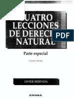 Javier Hervada - Cuatro Lecciones derecho natural