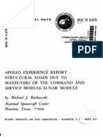 Apollo Experience Report Structural Loads Due to Maneuvers of the Command and Service Module Lunar Module