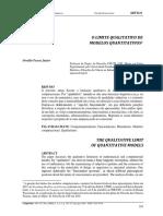 O limite qualitativo de modelos quantitativos Oswaldo Pessoa Jr