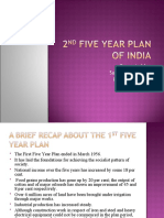 2nd Five Year Plan of India