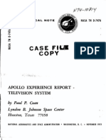 Apollo Experience Report Television System