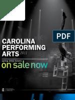 Spring 2011 Carolina Performing Arts Brochure