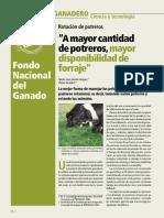 30CIENCIA Y TECNOLOGÍA _A MAYOR CANTIDAD DE POTREROS, MAYOR DISPONIBILIDAD DE FORRAJE_
