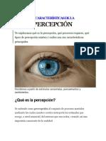 10 CARACTERÍSTICAS DE LA PERCEPCION