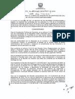 Cali Decreto 0161 - Por el cual se crea el comite de urgencias de santiago de cali y se dictan otras disposiciones CRUE