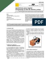 NTP 1130 Criterios ergonómicos para regular la silla de oficina y otras sillas alternativas