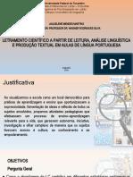 LETRAMENTO CIENTIFICO A PARTIR DE TEXTOS- apresentação