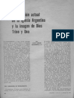 Scannone La situación actual de la Iglesia argentina y la imagen de Dios Trino y uno